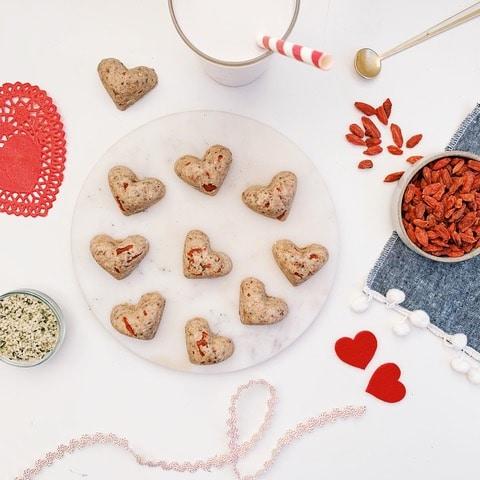 Tahini Goji Berry Heart Bites